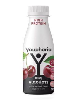 Youphoria High Protein 250ml με κεράσι Επιδόρπιο Στραγγιστού Γιαουρτιού